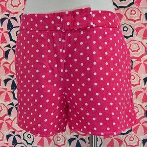 J. Crew 100% Linen Polka Dot Shorts